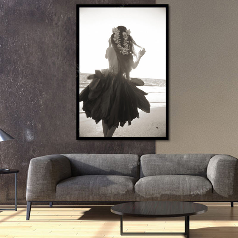 Nordic Beautiful Girl Abstract Wall Pictures Art Decoration Pictures Scandinavian Canvas Painting Prints No Frame
