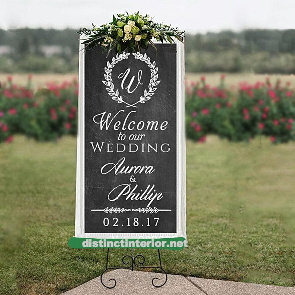 Personalized Wedding Welcome Sign Wall Decal-Welcome To Our Wedding