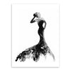 Nordic Black And White Fashion Model Canvas Wall Art No Frame