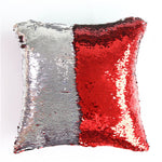Mermaid Sequin Magical Color Changing Reversible Pillow Case Throw Pillowcase 40cmX40cm
