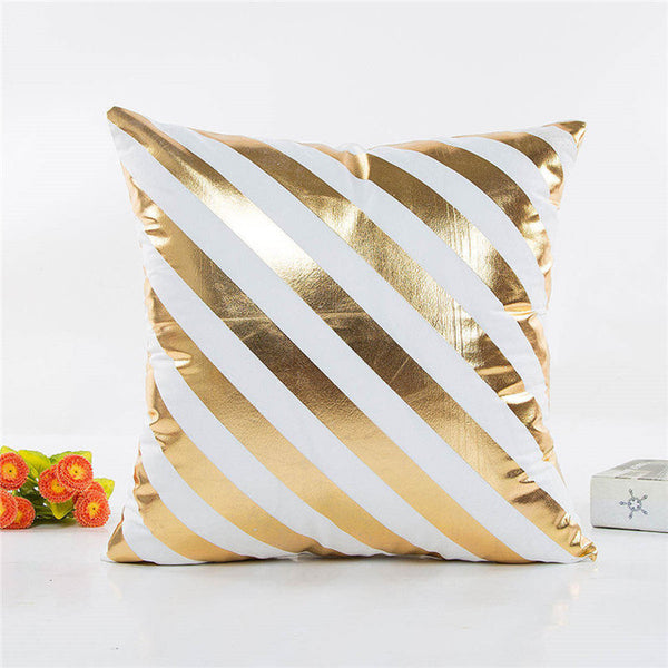Golden Print Decorative Cushion Cover 45x45cm