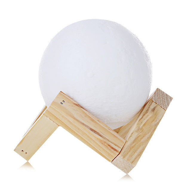 Rechargeable Moon Desktop Lamp Soft Touch Switch