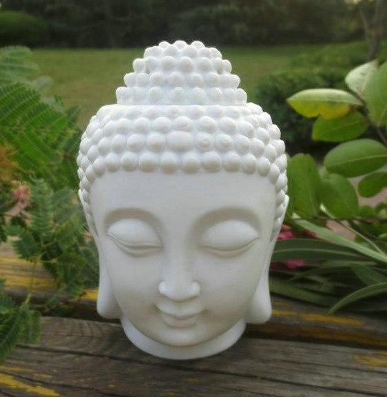 Distinct Interior Buddha Head Ceramic Aromatic Oil Burner