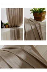 Japan Solid Tulle Curtains