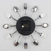 Decorative Spoon Fork Quartz Wall Mounted Clock White