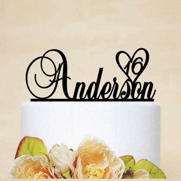 Customized Birthday Cake Topper With Name