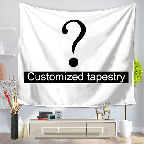 Customized Floral Arc On Black Background Wedding Backdrop Tapestry For Photo Shoot, Dessert Table, Couple's Table