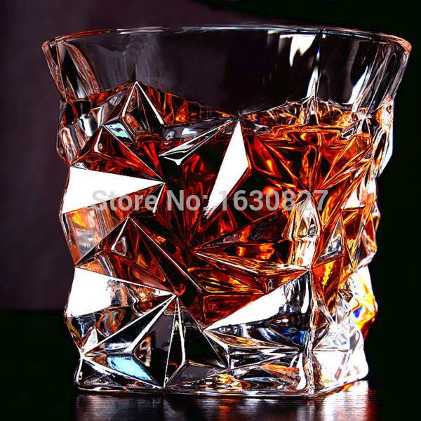2 PCS / Set Square Crystal Whiskey Glass Cup For the Home Bar Beer Water and Party Hotel Wedding Glasses Gift Drinkware