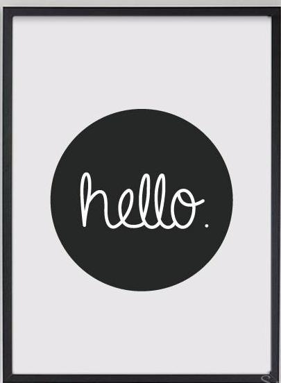 Hello Canvas Wall Decor Art Print No Frame