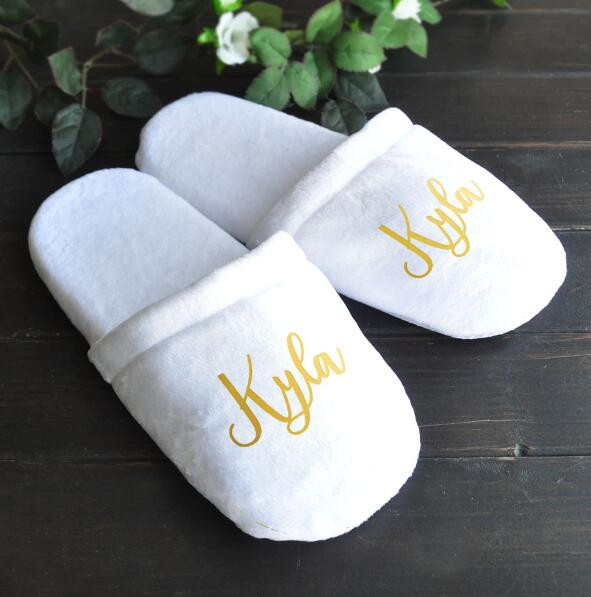 Distinct Interior Personalized Wedding Slippers
