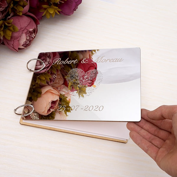 Distinct Interior Personalised Wedding Mirror Guest Book