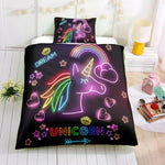 Rainbow unicorn neon light
