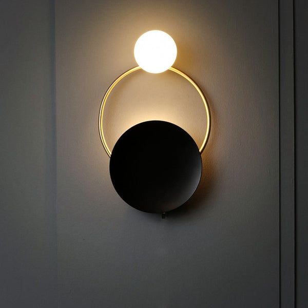 Nordic LED Decorative Modern Wall Lamp Art Brass