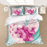 Smiling Mermaid Bedding Set