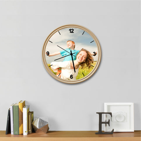 Custom Photo Wall Clock 10Inches