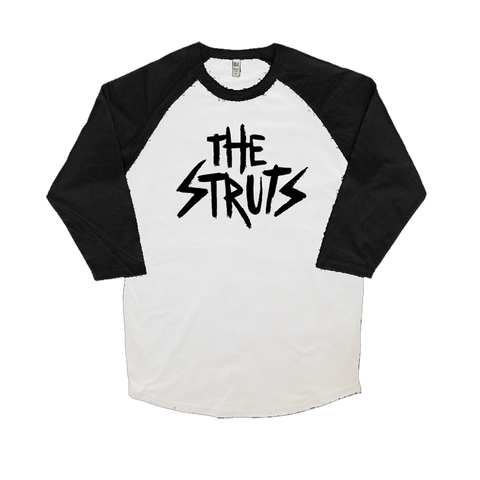 Brush Stroke Logo Black Sleeves Raglan
