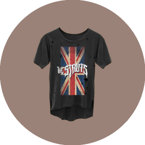 Heavy Distress Union Jack T-Shirt