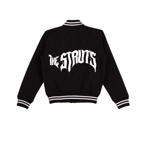 EMBROIDERED STARTER BLACK JACKET