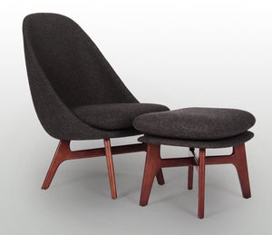 Solo Lounge Chair and Ottoman - Repro Furniture