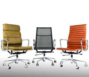 Charles Eames Style Highback Ribbed Office Chair
