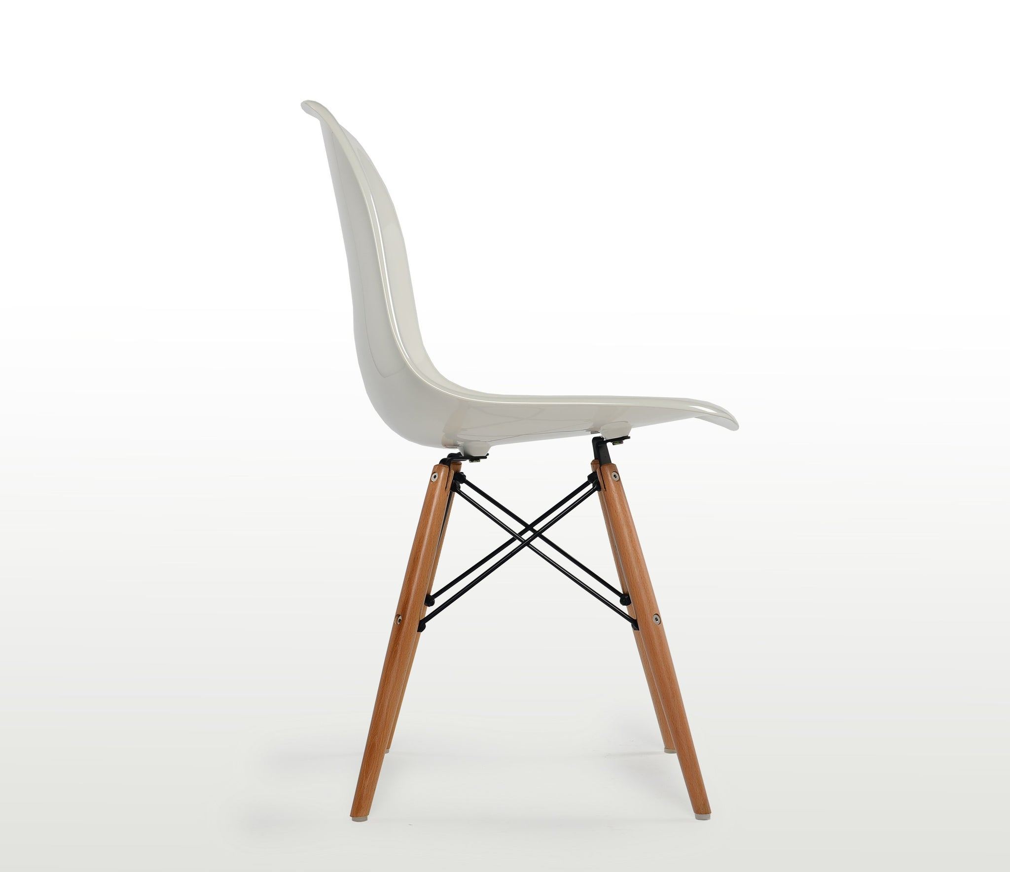Eames Molded Fiberglass Side Chair, Dowel Base (DFSW) - Repro Furniture