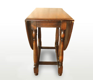 English Turned Leg Drop Leaf Table