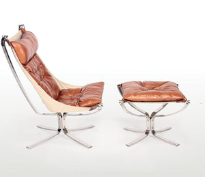 Falcon Lounge Chair and Ottoman - Repro Furniture