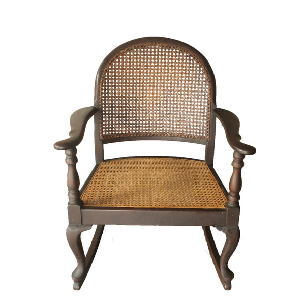 Old Rocking Rattan Chair - Repro Furniture