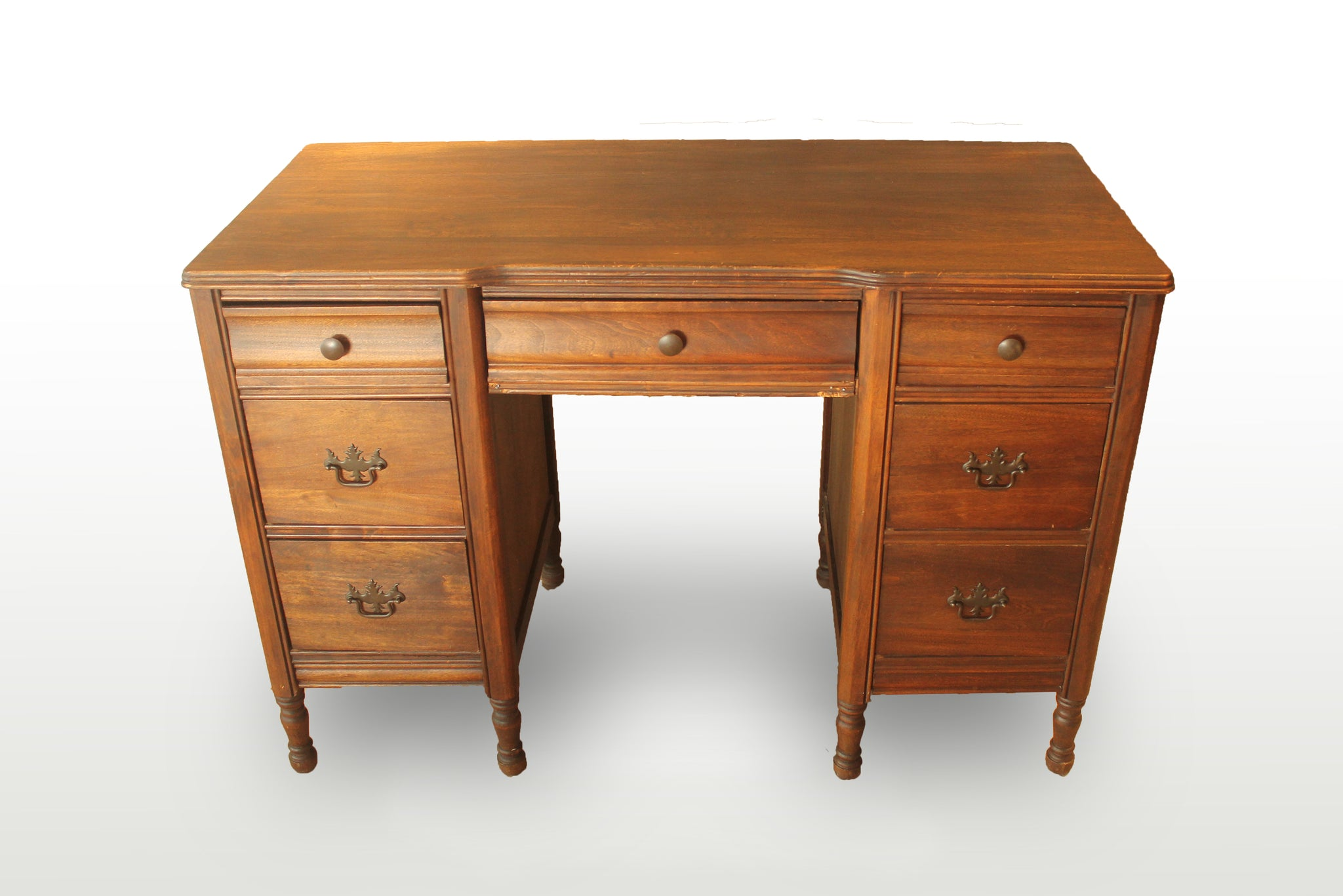 Writing Desk with 7 Drawers - Repro Furniture
