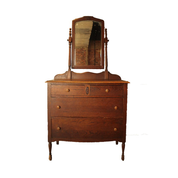 Old Dresser with mirror - Repro Furniture