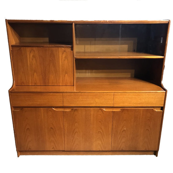 "Mid Century SForm Highboard 60"" x 15 1/2"" - Repro Furniture"