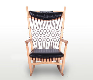 PP124 Rocking Chair with Ottoman - Repro Furniture