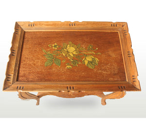 Side Table with Flower Pattern on Top