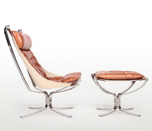 Falcon Lounge Chair and Ottoman