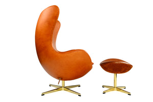 Egg Chair Waxy with Stool - Repro Furniture