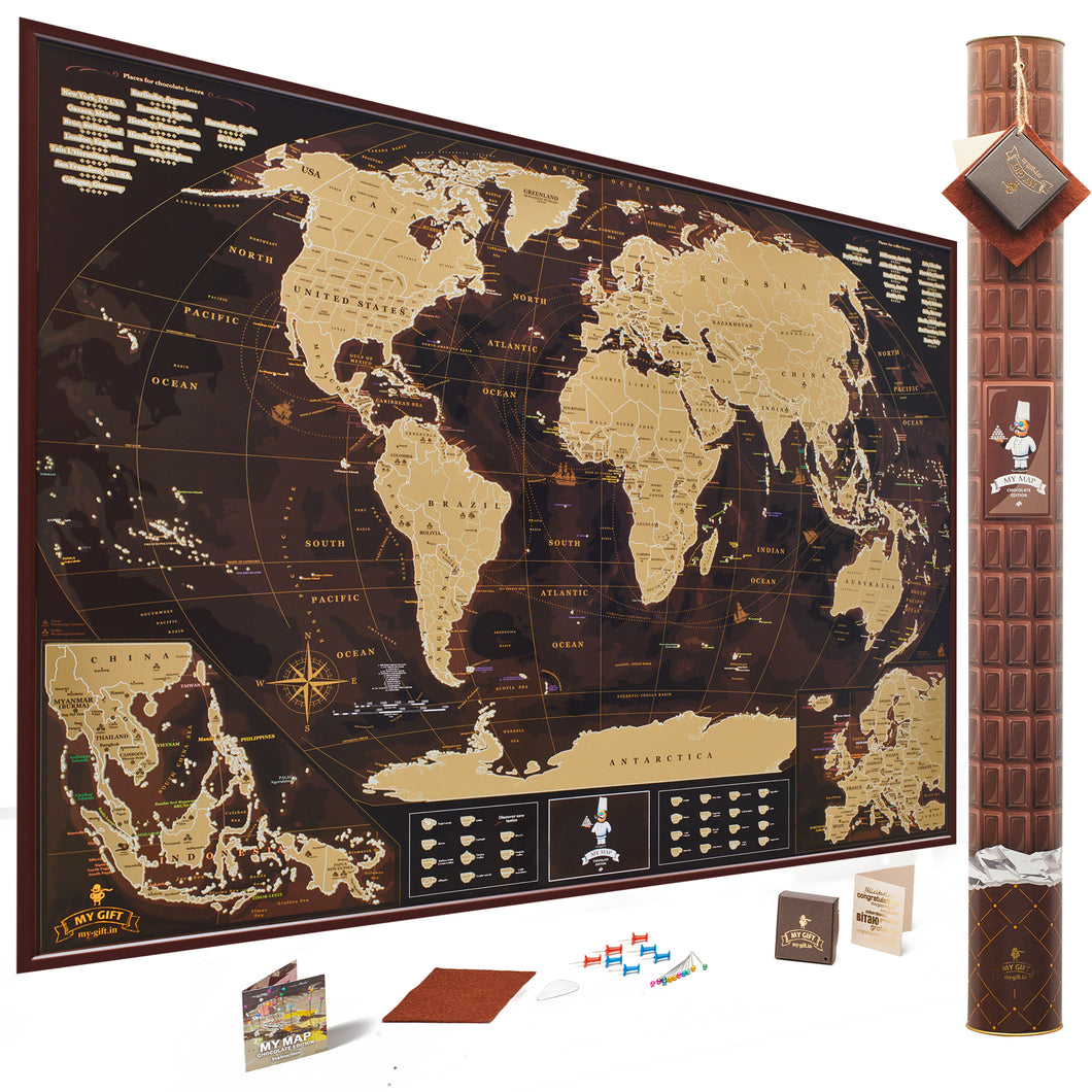 Buy chocolatecoffee lovers edition scratch off it travel world map chocolatecoffee lovers edition scratch off world map gumiabroncs Gallery