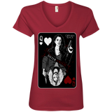Playing Card - Ladies' V-Neck Tee
