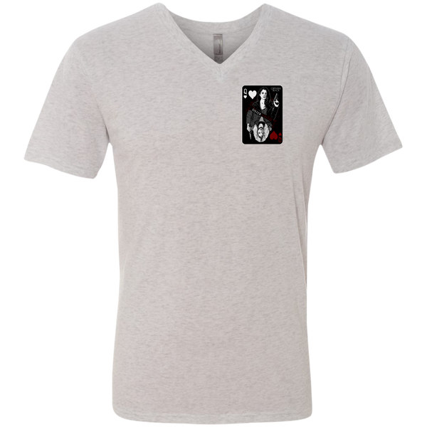 Playing Card - Men's Next Level Triblend V-Neck Tee