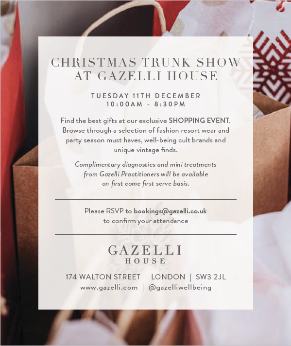 Gazelli House Trunk Show - Tuesday 11th December