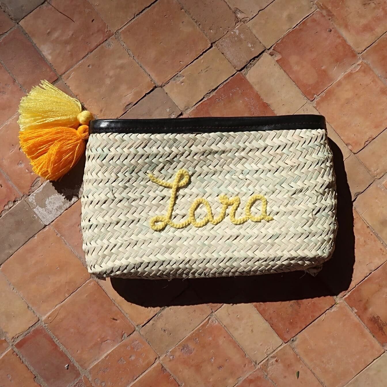 Personalised Straw Clutch