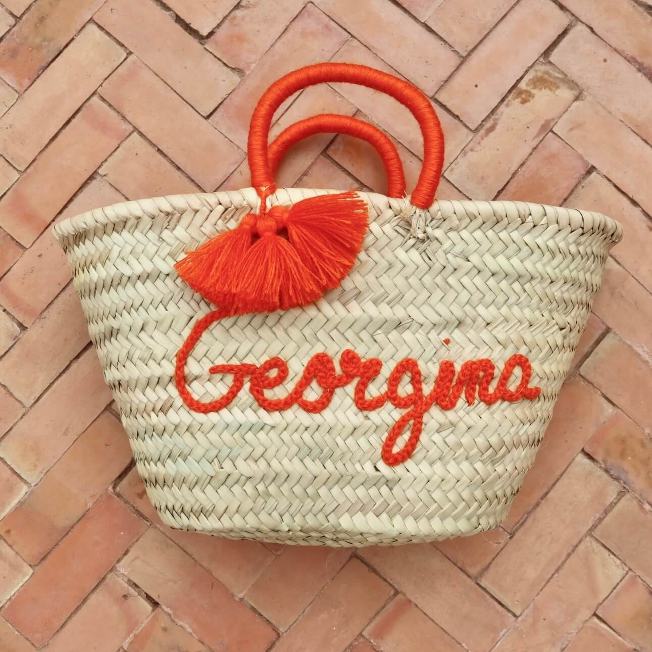 Straw Bag, personalised bag, beach bag