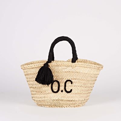 Tassel Monogram Basket
