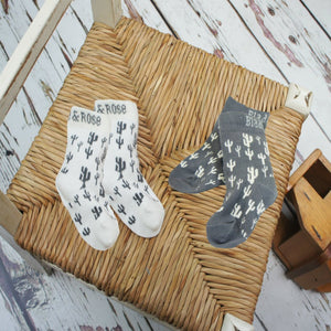 Blade and Rose Cactus Socks 仙人掌純棉嬰兒襪 (一包兩對)-Blade and Rose-shopababy