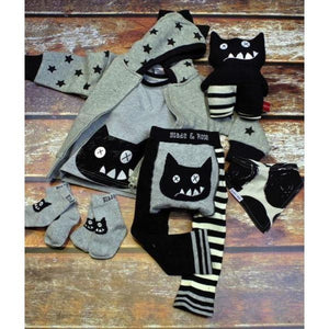 Blade and Rose Crazy Cat Socks 傻貓純棉嬰兒襪 (一包兩對)-Blade and Rose-shopababy