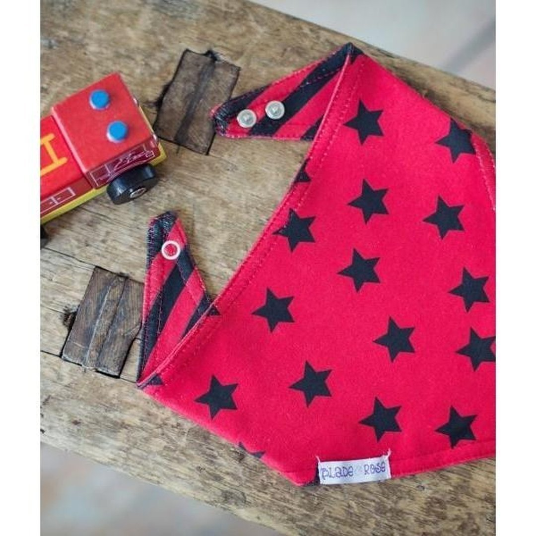 Blade and Rose Fire Engine Reversible Bibs 嬰兒口水巾-Blade and Rose-shopababy
