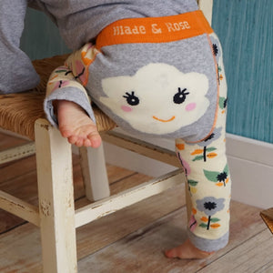 BLADE AND ROSE FLOWER FACE LEGGING 花花臉純棉嬰兒無縫彈力屁屁褲-Blade and Rose-shopababy