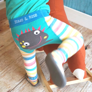 BLADE AND ROSE MESSY MONSTER LEGGING 醜怪獸純棉嬰兒無縫彈力屁屁褲-Blade and Rose-shopababy