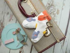 Blade and Rose Mouse Cotton Socks 可愛小老鼠全棉嬰兒襪