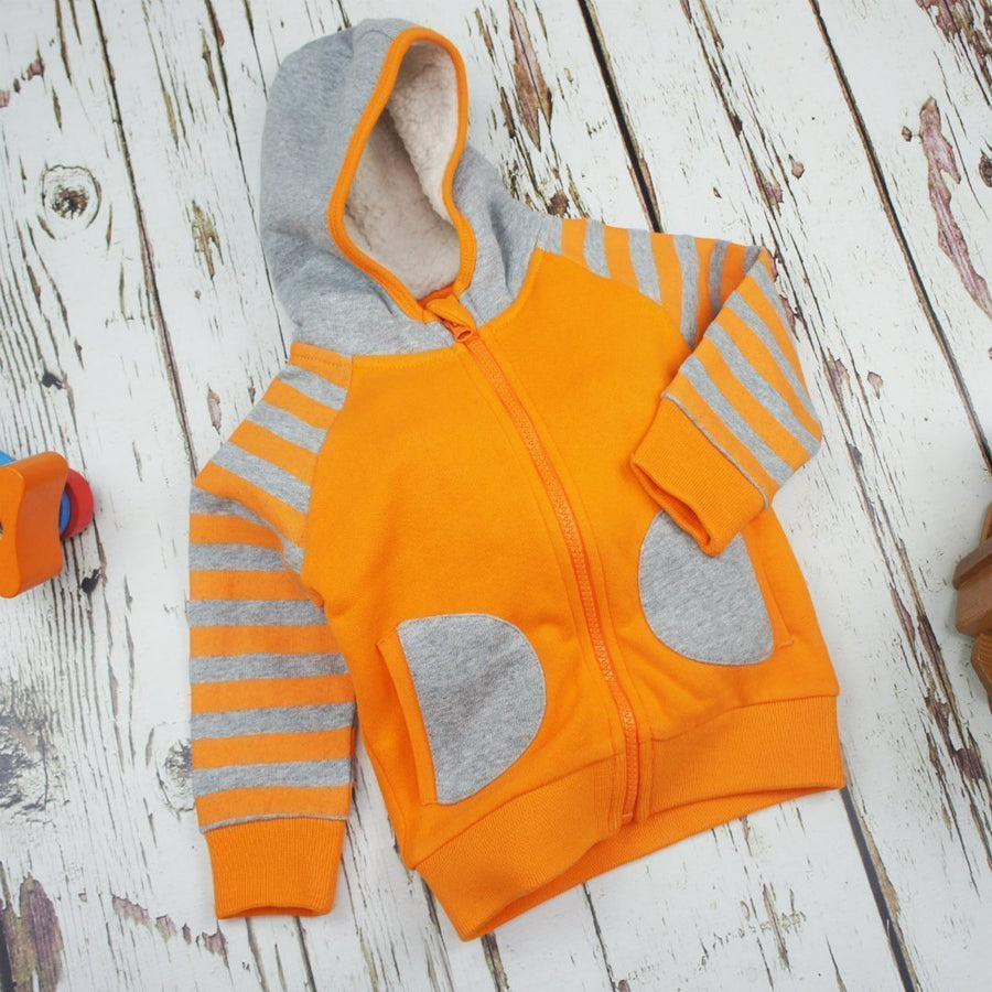 Blade and Rose Orange Hoodie Jacket 橙色毛毛嬰兒外套(有內埋)-Blade and Rose-shopababy
