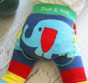 BLADE AND ROSE ORGANIC ELEPHANT LEGGING 小象有機棉嬰兒無縫彈力屁屁褲 (WWF)-Blade and Rose-shopababy
